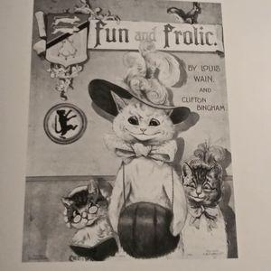 FUN & FROLIC Louis Wain Book Print